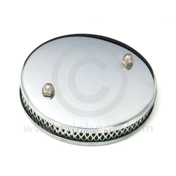 Mini Sport Chome Pancake Air Filter - HS4 SU Carb