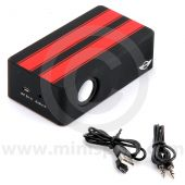 BM80.29.2.287.990 MINI Induction Speaker Box with red racing stripes.