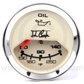 John Cooper Oil Temperature Gauge - Magnolia and Chrome