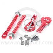 Quick Release Bonnet Pins - Red
