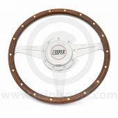 Classic Mini Cooper Monza Wood Steering Wheel