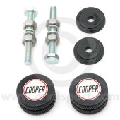 Cooper Knurled & Badged Grille Buttons - Black
