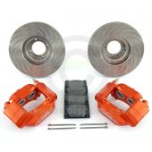 Orange 8.4'' Mini Sport Vented Brake Kit with Alloy Brake Calipers