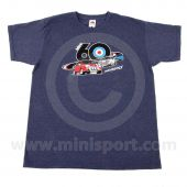 Heather Navy 3 Minis T Shirt - Mini 60