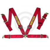Sabelt Saloon Series 4 Point Harness - Aluminium Adjusters - Red