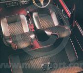 Mini Cooper Rear Seat Cover Kit - Black lightning cloth