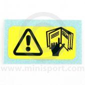SMB32 Mini refer to handbook warning label