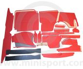 32 Piece Interior Panel Kit for Mini Traveller 62-70 with Round Speedo