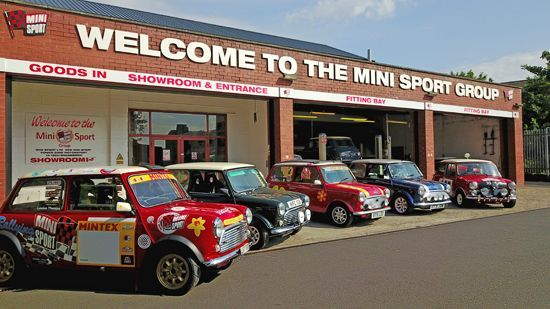 Entrance to the Mini Sport Showroom