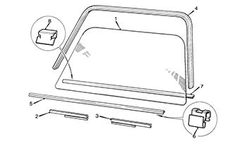 Door Glass and Fixings