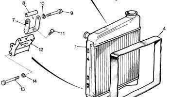 Radiator, Mountings & Sensors